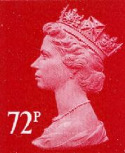 72p Discounted GB Postage Stamp (mixed designs)